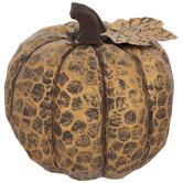 Antique Copper Carved Pumpkin