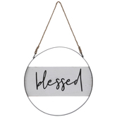 Blessed Hoop Wood Wall Decor