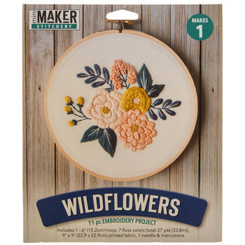Wildflowers Embroidery Project Kit