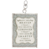 You Are Braver Soldered Pendant