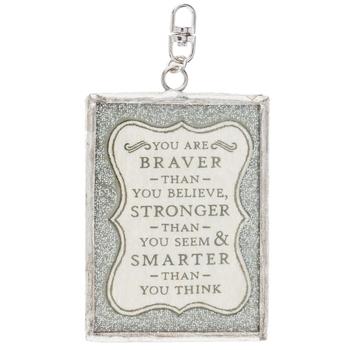 You Are Braver Soldered Pendant