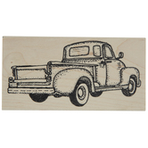 Classic Pickup Truck Rubber Stamp