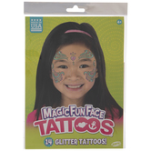Swirls & Hearts Temporary Face Tattoos