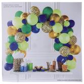 Green, Blue & Gold Leopard Balloon Arch Kit