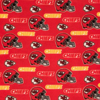 NFL Kansas City Chiefs Fleece Fabric