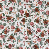 Mauve Floral Apparel Fabric