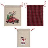Merry Christmas Drawstring Gift Bags