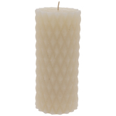 Carved Diamond Pillar Candle