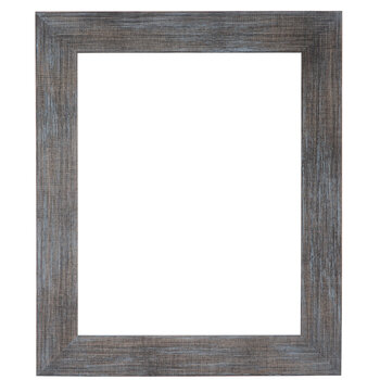 Turquoise Wash Wood Open Frame