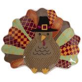 Patterned Turkey Dish
