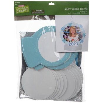 2021 Snow Globe Frame Ornament Craft Kit