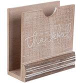 Thankful Wood Napkin Holder
