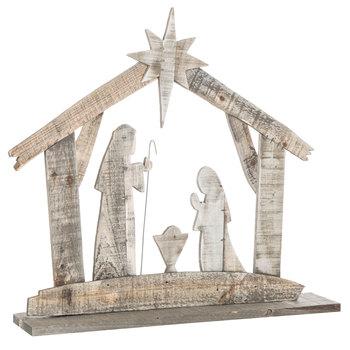 Nativity Silhouette Wood Decor