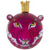 Hot Pink & Black Leopard Ball Ornament