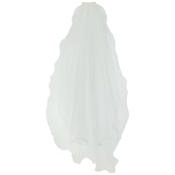 Two-Tier Curly Edge Veil