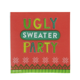 Ugly Sweater Party Paper Napkins - Large