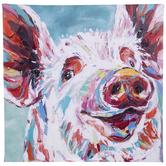 Painterly Pig Canvas Wall Decor