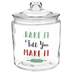 Bake It Till You Make It Glass Canister