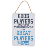 Good Players Great Players Wood Wall Decor