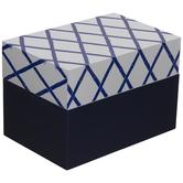 Navy & White Bamboo Pattern Box