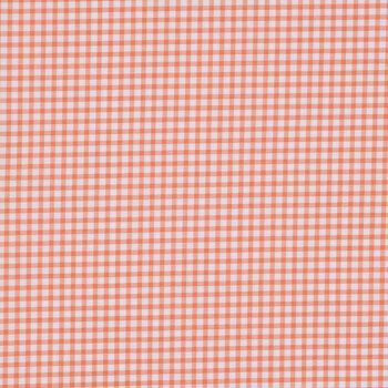 Peach Gingham Duck Cloth Fabric
