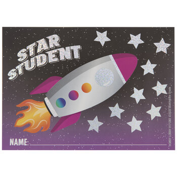 Star Student Rocket Punch Cards