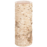 Birch LED Pillar Candle