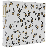 "Gold Leopard Print 3-Ring Scrapbook Album - 12"" x 12"""