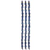 Blue Metallic Round Polished Bead Strands