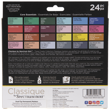 Classique Dual-Tip Permanent Markers - 24 Piece Set