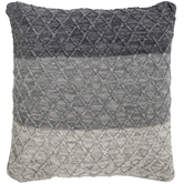 Gray Diamond Knitted Pillow Cover