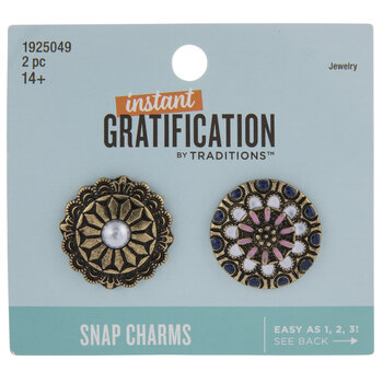Ornate Floral Snap Charms