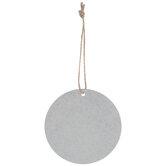 Round Galvanized Blank Ornaments