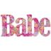 Multi-Color Dotted Babe Decor