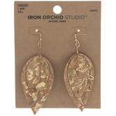 Metallic Cork Teardrop Earrings