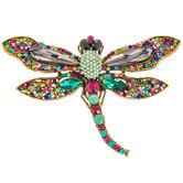 Dragonfly Rhinestone Brooch