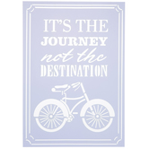 It's The Journey Bike Stencil