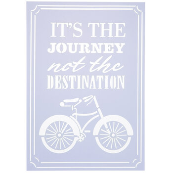 It's The Journey Bike Stencil