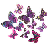 Purple Butterflies 3D Adhesive Wall Art