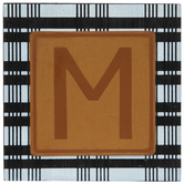 Plaid & Leather Letter Wood Wall Decor - M