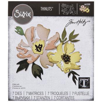Brushstroke Flowers Dies