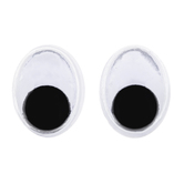 Paste-On Oval Wiggle Eyes - 7mm x 10mm