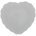 White Scalloped Heart Bowl