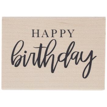 Happy Birthday Rubber Stamp