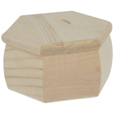 Hexagon Wood Box