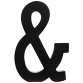 Black Letter Wood Wall Decor - Ampersand