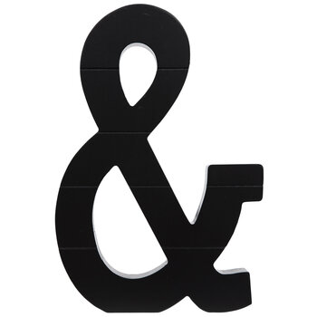 Black Letter Wood Wall Decor - Ampersand