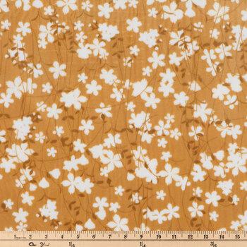 Butterscotch Floral Minky Fleece Fabric