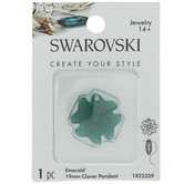 Swarovski Emerald Clover Pendant