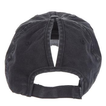 Black Ponytail Baseball Cap